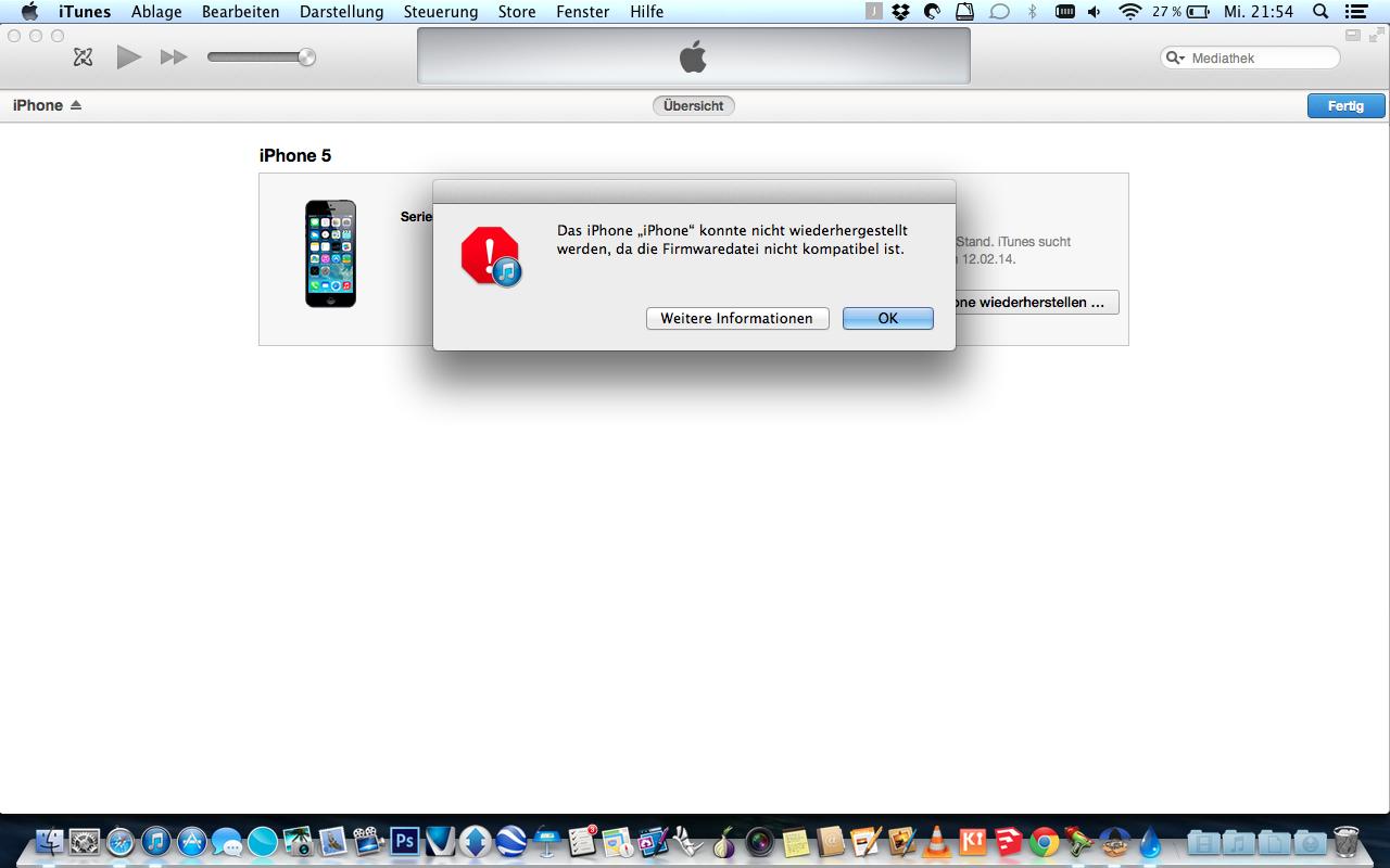 iphone 5 firmware wiederherstellen ohne itunes