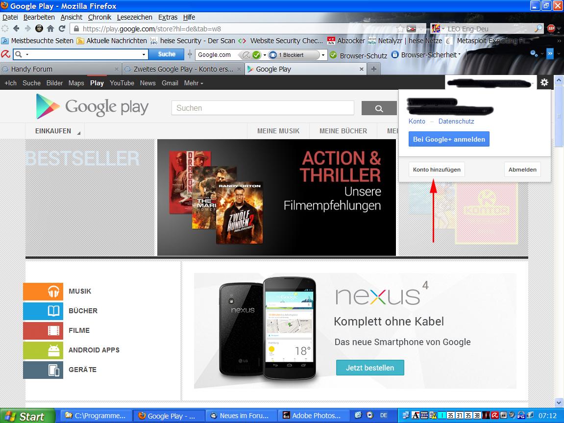 Googleplay Konto