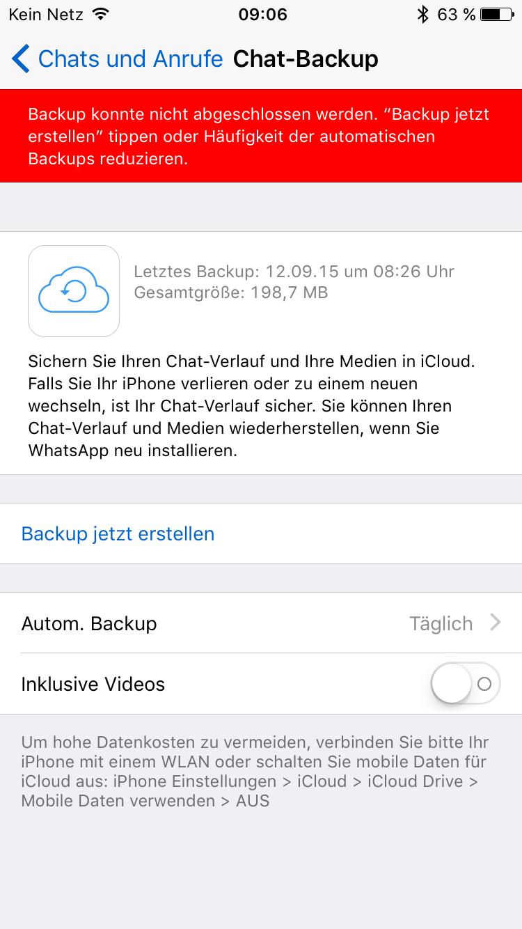 altes backup auf neues iphone